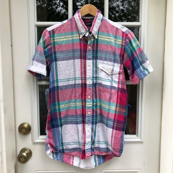 Gant Other - Vintage ShortSleeve Plaid Casual Button Down Shirt